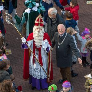 Sint met burgemeester